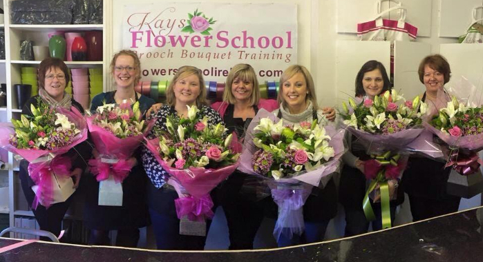 How to make a Hand Tied Bouquet of Flowers at Kays Flower School Ireland