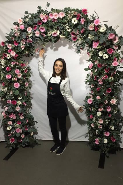 Fresh flower pink arch for weddings