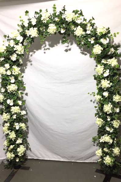 fake flower wedding arch for civil ceremony