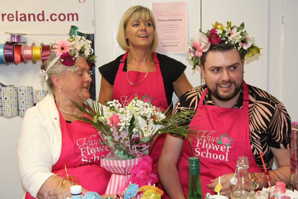 James Patrice and Fron at flower school