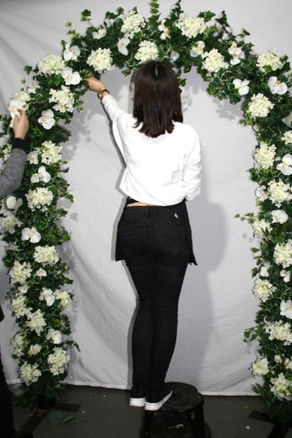 Fake Flower White wedding arch
