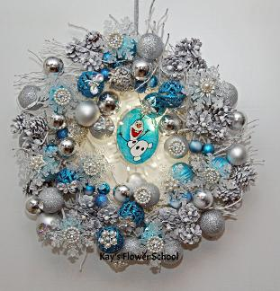Olaf Christmas Wreath