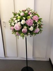 Pink Peonie Topiary Tree for weddings