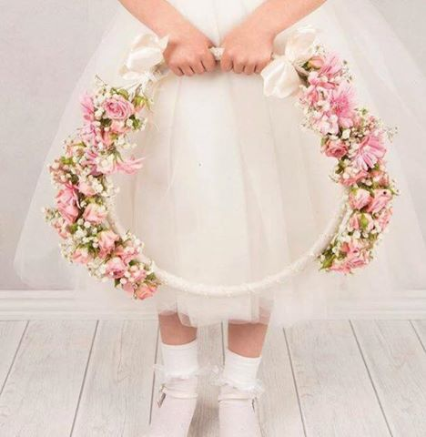 Flower Girl Flower Hoop for weddings