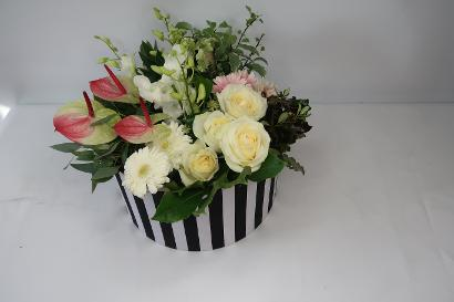 Floral Hat Box Arrangements