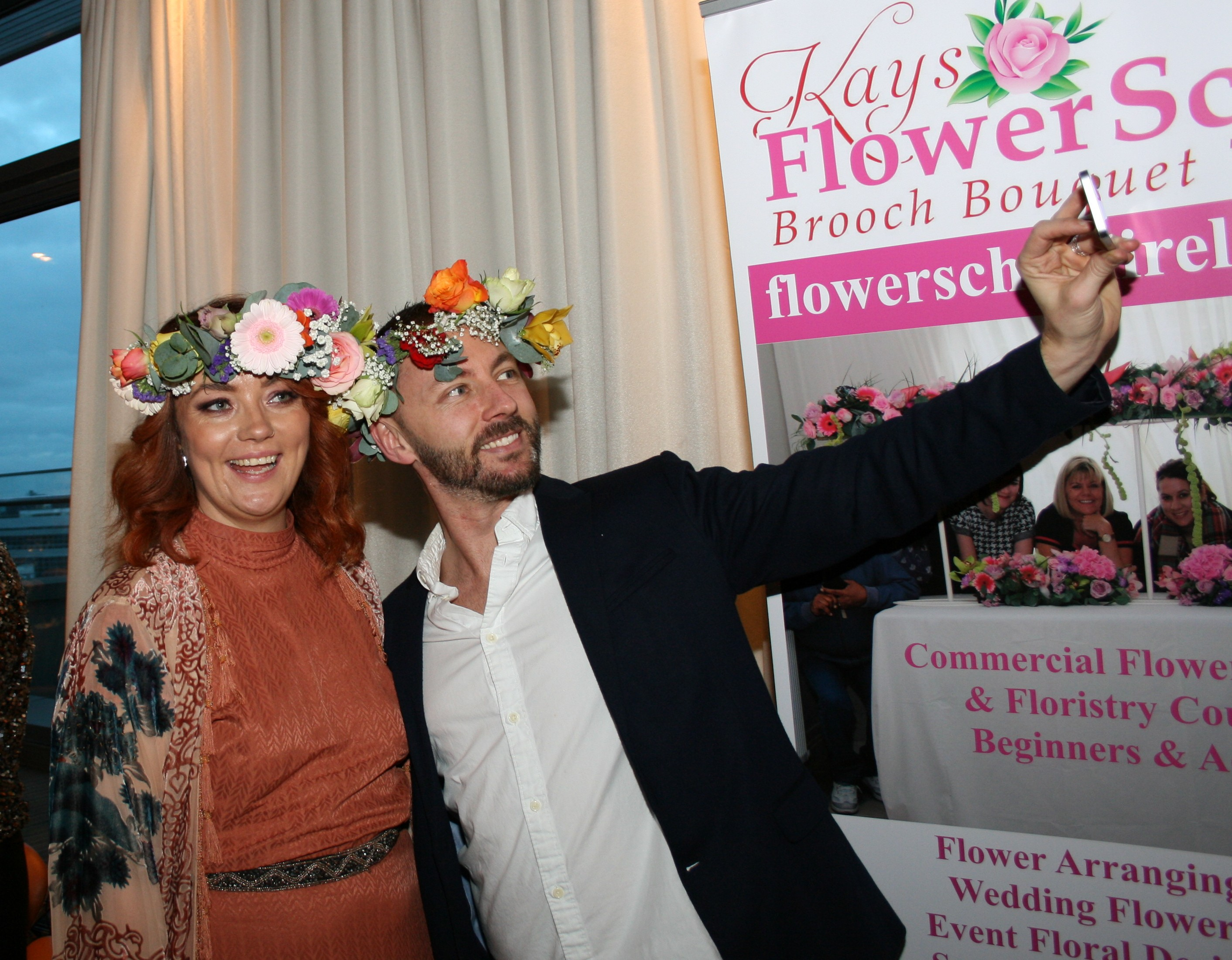 Flower Crown Party at Kays Flower school