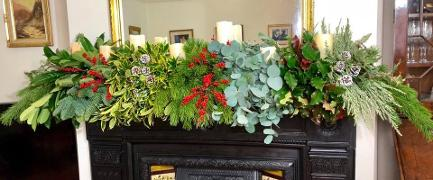 Decorating your mantle for Christmas