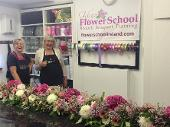 Students working at Kays Flower School