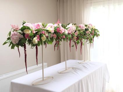 floral design courses in suspended table garlands