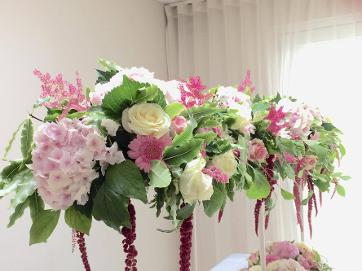 Hydrangea Table feature for weddings at the flower school