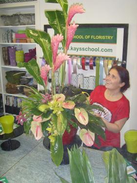 private floristry classes at kays flower school