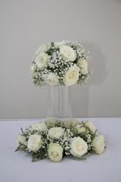 White Wedding Table Center Ideas