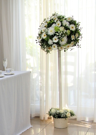 White Flower Topiary Tree