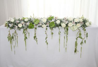 White Flower Table Garland
