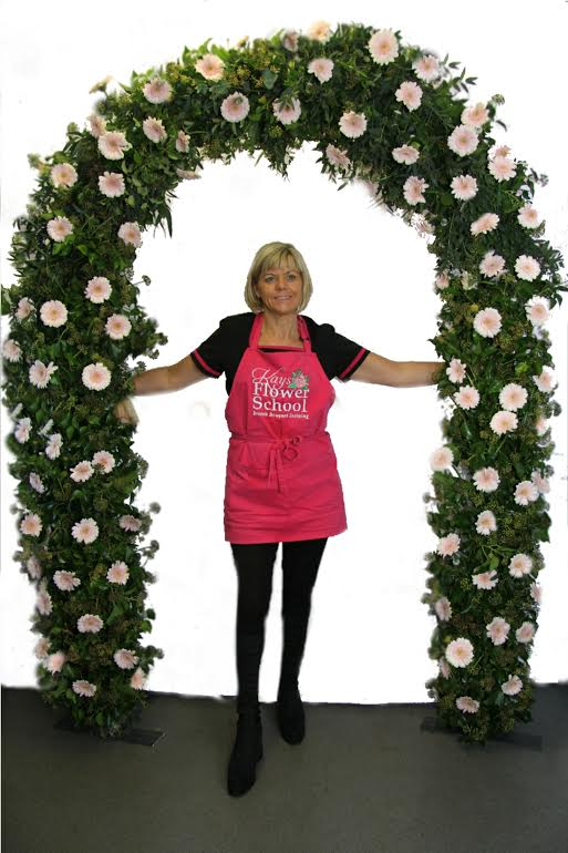 Cheap Pink Flower Arch for Weddings