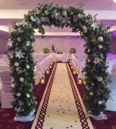 Civil Ceremony arch of flowers