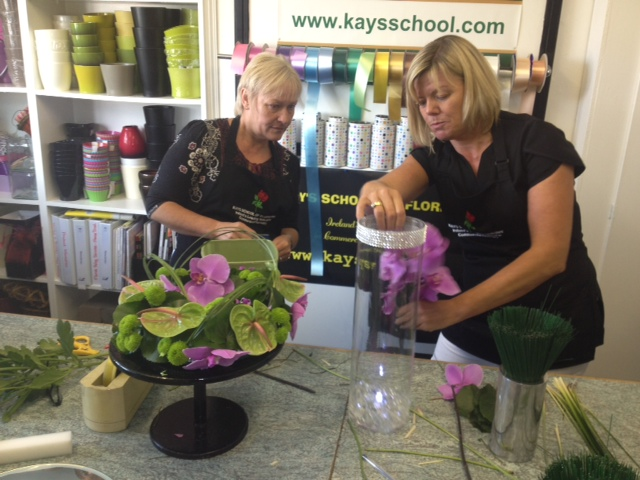 teaching flower Arrangments